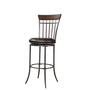 Cameron Chestnut Brown Swivel Spindle Back Bar Stool
