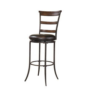 Cameron Chestnut Brown Swivel Back Bar Stool