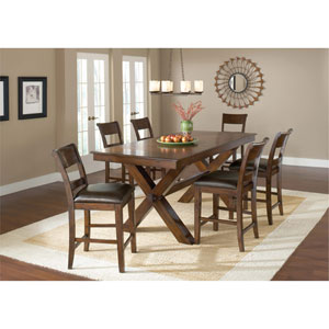 Park Avenue Dark Cherry 7-Piece Counter Height Dining Set