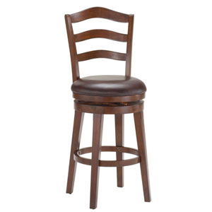 Windsor Brown Cherry Swivel Bar Stool