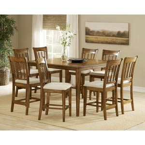 Bayberry Oak 36 x 54 Counter Height Gathering Table with Four Chairs