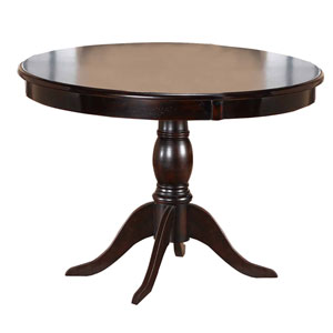 Bayberry Dark Cherry 44-Inch Round Table Top and Pedestal