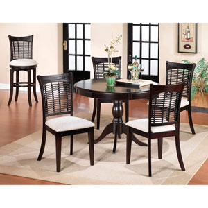 Bayberry Dark Cherry 44-Inch Round Table with Chairs