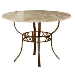 Brookside Brown Powder Coat Metal Round Dining Table