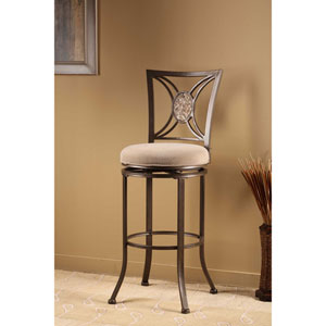 Rowan Silver Brown Swivel Bar Stool