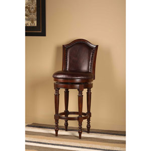 Barcelona Brown Cherry Swivel Bar Stool