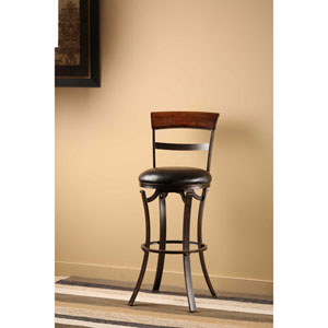 Kennedy Black Swivel Counter Stool