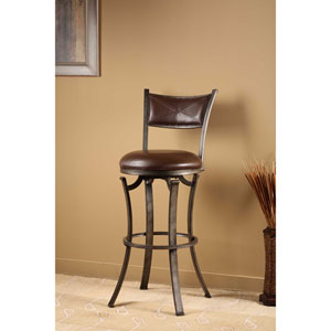 Drummond Rubbed Pewter Swivel Counter Stool