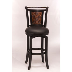 Norwood Black Swivel Counter Stool