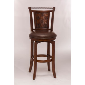 Norwood Brown Cherry Swivel Counter Stool