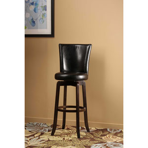 Copenhagen Espresso Black Swivel Counter Stool
