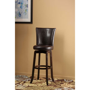 Copenhagen Espresso Swivel Counter Stool