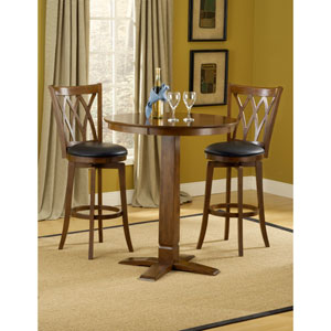 Dynamic Designs Brown Cherry  Pub Table with Four Mansfield Barstools
