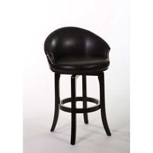 Dartford Dark Brown Cherry Swivel Counter Stool