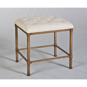 Katherine Bronze Backless Vanity Stool