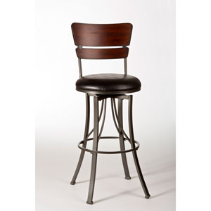Santa Monica Pewter Swivel Bar Stool