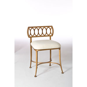 Canal Gold Bronze Street Vanity Stool