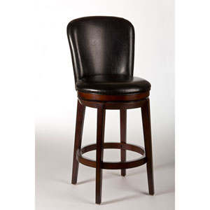 Victoria Dark Brown Cherry Swivel Bar Stool