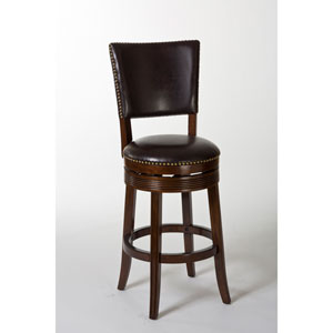 Sonesta Brown Cherry Swivel Counter Stool