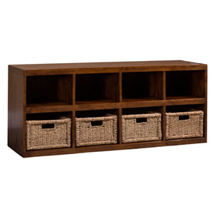 Tuscan Retreat Oxford Storage Cube with Baskets