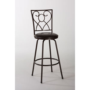 Bellesol Brown Swivel Bar Stool with Nested Leg
