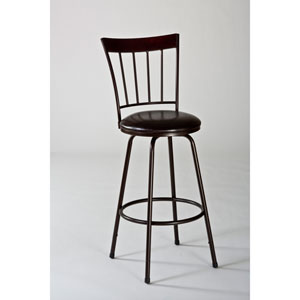 Cantwell Brown Swivel Bar Stool with Nested Leg