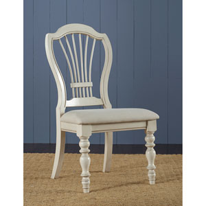 Pine Island Old White Wheat Back Side Chair, Set of 2