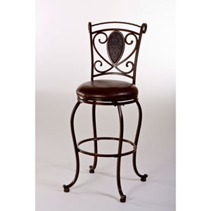 Scarton Dark Chocolate Swivel Counter Stool