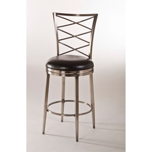 Harlow Antique Pewter Swivel Bar Stool