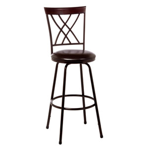 Northland Brown and Cherry Swivel Counter and Bar Stool