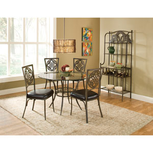 Marsala Brown Five,Piece Dining Set