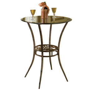 Marsala Grey and Rust Bar Height Bistro Table