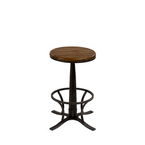 Rivage Steel Gray Backless Swivel Counter Stool