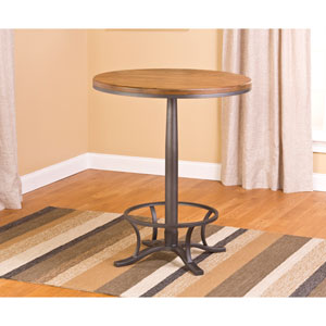 Westview Steel Gray and Black Oak Bar Height Bistro Pub Table