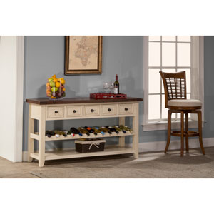 Tuscan Retreat ® Wine Rack Hall Table with Five Drawers