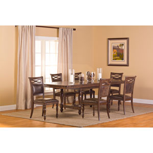 Seaton Springs Weathered Walnut 7 Piece Dining Set