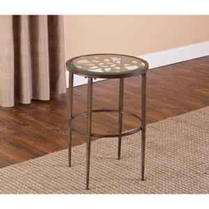 Marsala Gray and Brown End Table