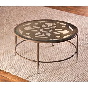 Marsala Brown Coffee Table with Glass Top