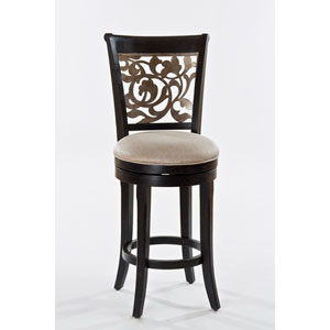 Bennington Black Swivel Bar Stool