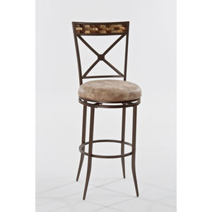Compton Brown Swivel Counter Stool