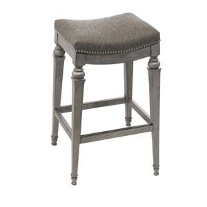 Vetrina Gray Backless Non-Swivel Counter Stool with Gray Fabric