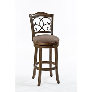 McLane Rich Walnut Swivel Counter Stool
