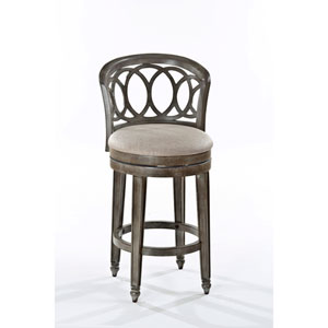 Adelyn Antique Silver and Gold Swivel Counter Stool