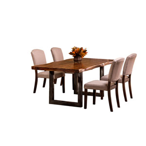 Emerson Natural Sheesham 5-Piece Rectangle Dining Set