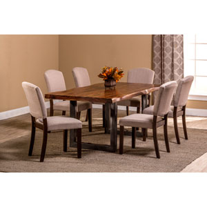 Emerson Natural Sheesham 7-Piece Rectangle Dining Set