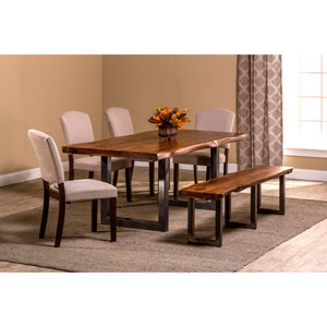 Emerson Natural Sheesham 6-Piece Rectangle Dining Set