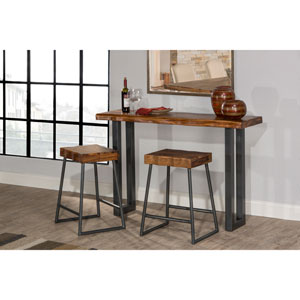 Emerson Sofa Table and Two Non-Swivel Counter Stools