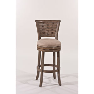Thredson Light Antique Graywash Swivel Bar Stool