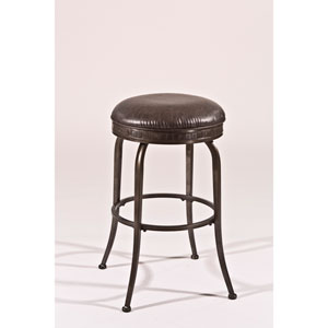 Harper Pewter Backless Swivel Counter Stool