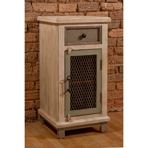 Larose One Drawer / One Door Cabinet with Decorative Wire